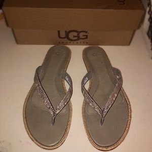 BRAND NEW UGG ALLARIA SNAKE PRINT SANDALS